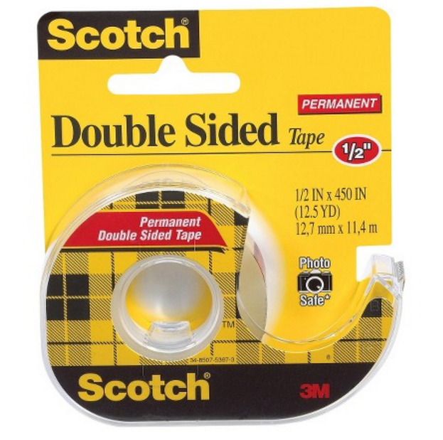 Scotch tape dispenser side view